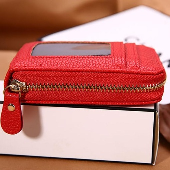 Men Women Leather Credit Card Holder Case Card Holder WalletBusiness Card RD -