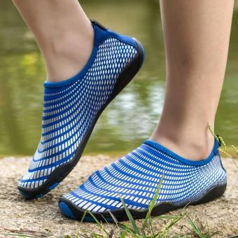 Men Women Swimming Yoga Beach Breath Shoes Sandals for SummerCasual Shoes (Blue) - intl - 5