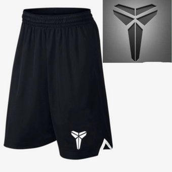 Men's Active Performance Basketball Black Shorts with Pocket (the Logo of Kobe) - intl