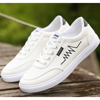 Men's casual canvas shoes White