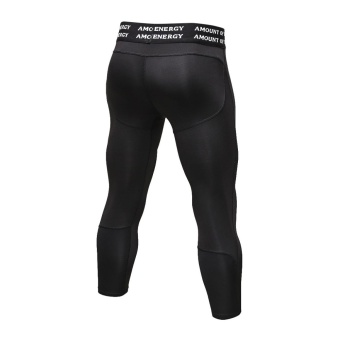 Men's Compression Fitness Pants 3/4 Sports Tights Leggings(Black) - intl - 4