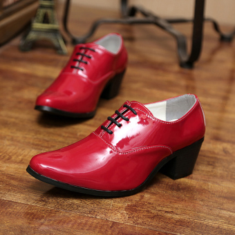 Men's fashion high-heeled Formal shoes - 4