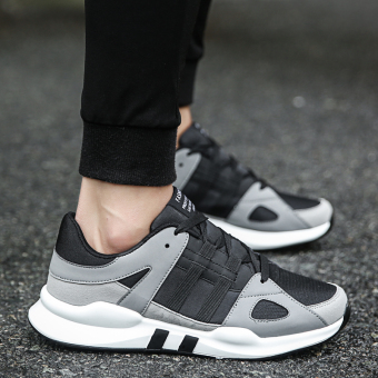 Men's Japnese-style Fashionable Sport Leisure Shoe (Gray and black)