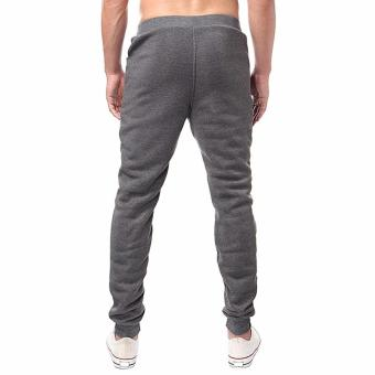 Men's Jogger Dance Sportwear Baggy Harem Pants Slacks Trousers Sweatpants (Dark Gray)-Intl - 3