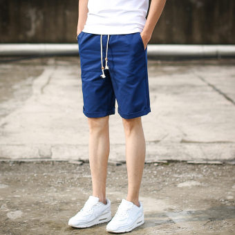 Men's Korean-style Slim Fit Sport Shorts (K85-dark blue color)