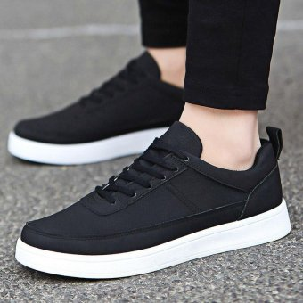 Men's Leather Casual Loafer Shoes Leisure Driving Shoes Black - intl - 2