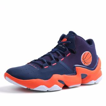 Men's Outdoors Sports Shoes Student Basketball Shoes for Mens Orange 8019 - intl - 2