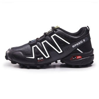Men's Salomon Plus Size Outdoor Color Block Professional Cross-country Running Shoes(Black) - intl - 2