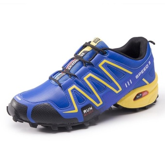 Men's Salomon Plus Size Outdoor Color Block Professional Cross-country Running Shoes(Blue) - intl