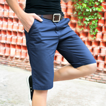 Men's Summer casual shorts (Sapphire blue color)