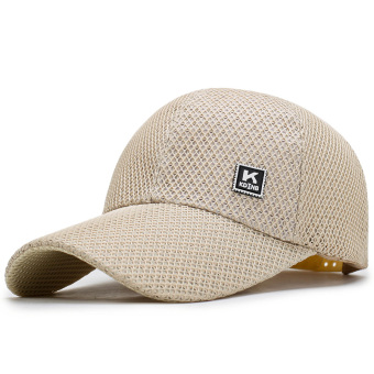 Men's summer Korean-style baseball cap hat (Beige)
