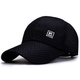 Men's summer Korean-style baseball cap hat (Black)