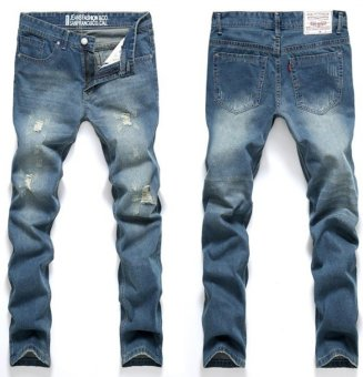 Men's Tapered Jeans Robin Jeans Pants Men Denim Pants Male Ripped Hole Jeans