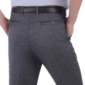 Men's Thin Loose Suit Pants (Summer thin business gray [pocket after button models])