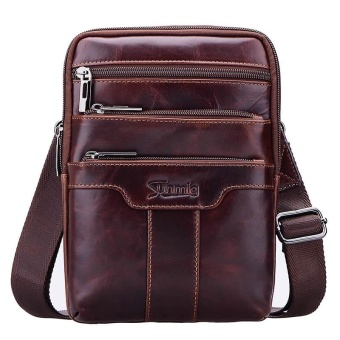 Men's Vintage Genuine Leather Shoulder Bag Messenger Bags Crossbody - intl