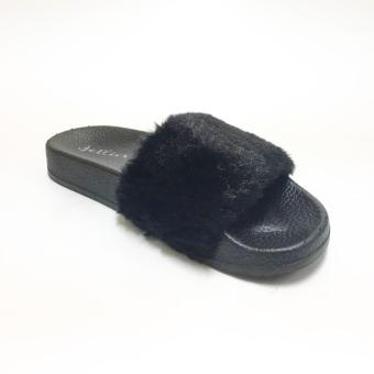 Mendrez Yoona Slide (Black) - 2