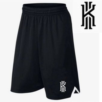 Men's Active Performance Basketball Black Shorts with Pocket (theLogo of Irving) - intl