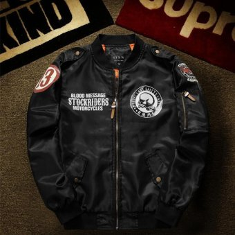 Mens Air Force Embroidered Badge Baseball Bomber Jackets -intl(Int:M)