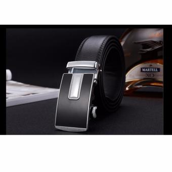 Men's automatic buckle belt (black) 02