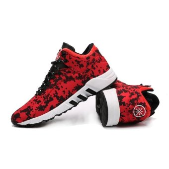 Mens Basketball Sneakers Basketball Shoes For Men Training MenLeather Sport Shoes(red) - intl - 3