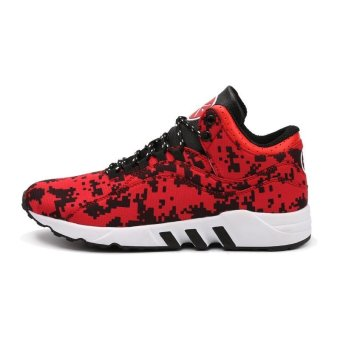 Mens Basketball Sneakers Basketball Shoes For Men Training MenLeather Sport Shoes(red) - intl - 2