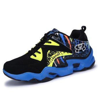 Mens Basketball Sneakers High Top Basketball Shoes For Men Shoes Training Men Leather Sport Shoes Stephen Curry (blue) - intl - 2