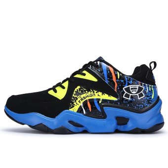 Mens Basketball Sneakers High Top Basketball Shoes For Men Shoes Training Men Leather Sport Shoes Stephen Curry (blue) - intl