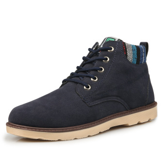 Men's Bonny Washed Canvas Chukka Boot(Blue) Price Philippines