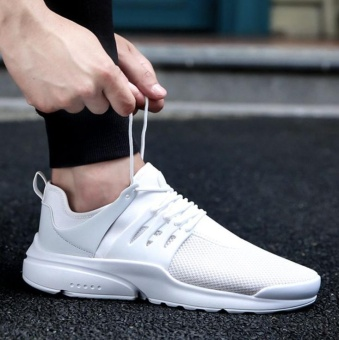 Men's breathable sneaker leisure shoes (white) - intl