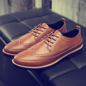 Men's Bullock Casual Shoes, British Shoes, Light Fashion. (Brown) -intl Price Philippines