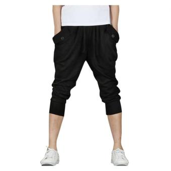 Mens Casual Jogger Sports Shorts Pants (Black) - Intl Price Philippines