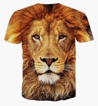 Men's casual short-sleeved t-shirt 3D digital printing Lions - 2