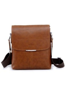 Men's Classic PU Leather bag Light Brown