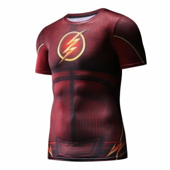 Men's Compression Fitness Shirt ,The Flash Printing Sports T-shirt- intl - 2