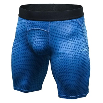 Men's Compression Shorts Baselayer Cool Dry Sports Tights (Blue) -intl Price Philippines