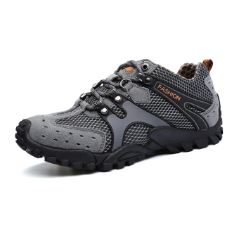 Mens Durable Hiking Shoes Mountain Climbling Shoes Super BreathableTrekking Shoes Outdoor Sports Shoes Grey