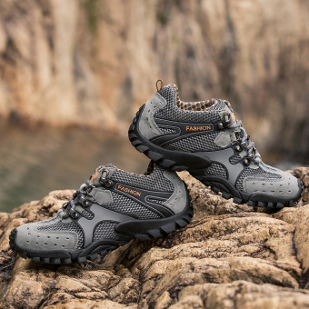 Mens Durable Hiking Shoes Mountain Climbling Shoes Super BreathableTrekking Shoes Outdoor Sports Shoes Grey - 4
