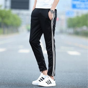 Men's Fashion Jogger Elastic Breathable Sports Casual RunningTrainning Trousers Pants - intl