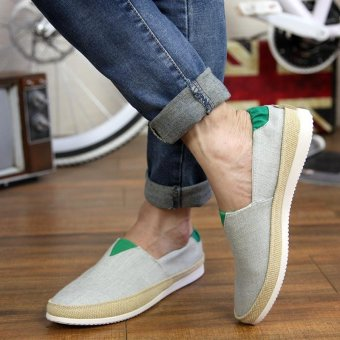 Men's Fashion On The Go Driving Shoes Canvas Shoes Daily CasualShoes Summer Shoes Slip-on Loafers Comfortable Walking Shoes - intl - 2
