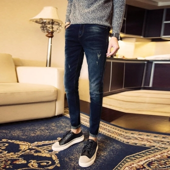 Mens Fashion Slim Casual Denim Pants Cotton Skinny Men Jeans Fit Trousers - intl