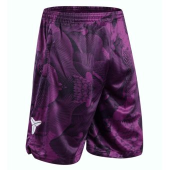 Men's Fastbreak Shorts Kobe Basketball Purple Shorts with Pocket -intl Price Philippines