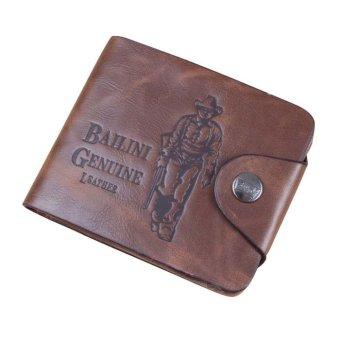 Mens Genuine Leather Bifold Wallet Brown
