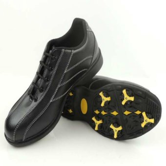 Men's Golf Shoes Non-slip Breathable Sport Shoes (Black) - intl