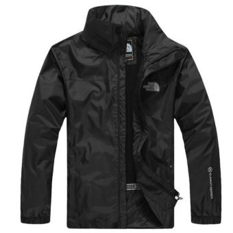 Men's Jacket Section Pizex Waterproof Windproof Windbreak forOutdoor Sports Mountaineering Climbing Skiing Camping(Black) - intl