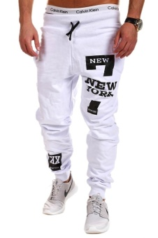 Mens Joggers Brand Male Trousers Men Pants Casual Pants SweatpantsJogger Black - intl