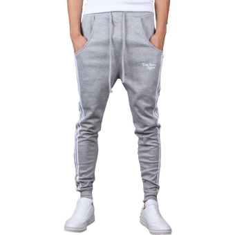 Mens Jogging Pants Tracksuit Bottoms Training Running Trousers Gray