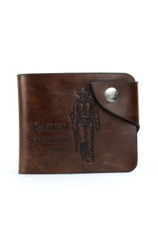 Men's Leather Card Wallet Coffee
