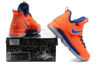 Men's Lebron 14 Basketball Shoes Orange / blue - intl - 4