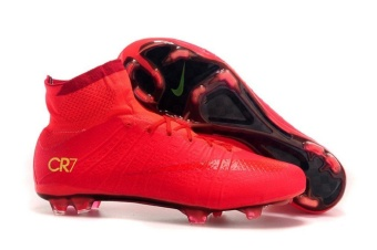 Men's Mercurial X Superfly IV CR FG With ACC Red High Top FootballShoes Soccer Boots - intl