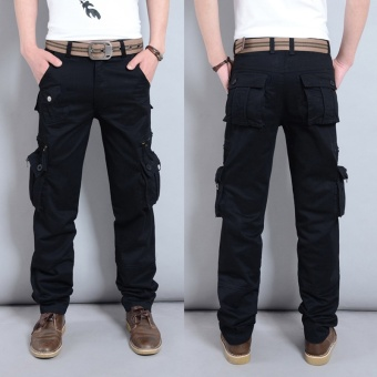 Mens Military Cargo Pants Army Multi-Pockets Tactical Pants FashionCasual Cotton Tooling Pants Men's Trousers - intl